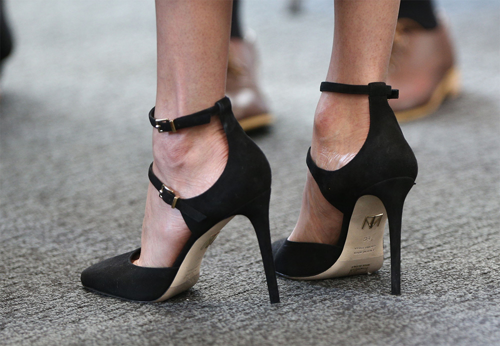 624366731580 Shoe detail  Meghan Markle at Commonwealth Heads of Government Meeting  reception meeting delegates from the. NEXT PREV. Tamara Mellon Paramour  Suede Pumps ...