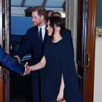 Meghan and Harry attending the Queen's 92nd birthday party at the Royal Albert Hall on April 21, 2018 in London, England.