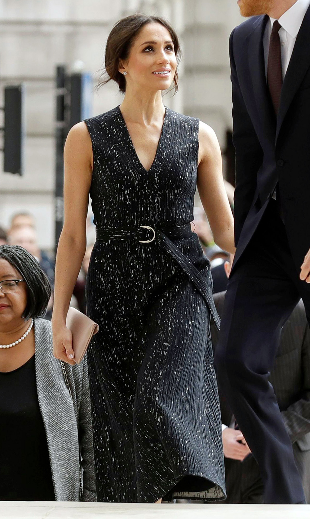 Meghan Markle at the 25th Anniversary Memorial Service to celebrate the life and legacy of Stephen Lawrence at St Martin-in-the-Fields on April 23, 2018 in London, England.