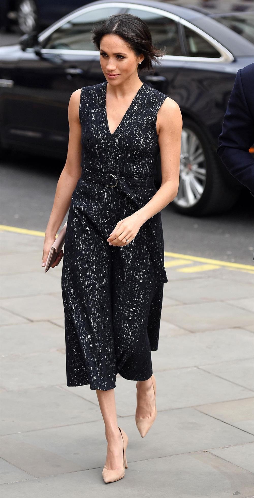 Jul 22 Hugo Boss Dionia Pleated Midi Dress in Black
