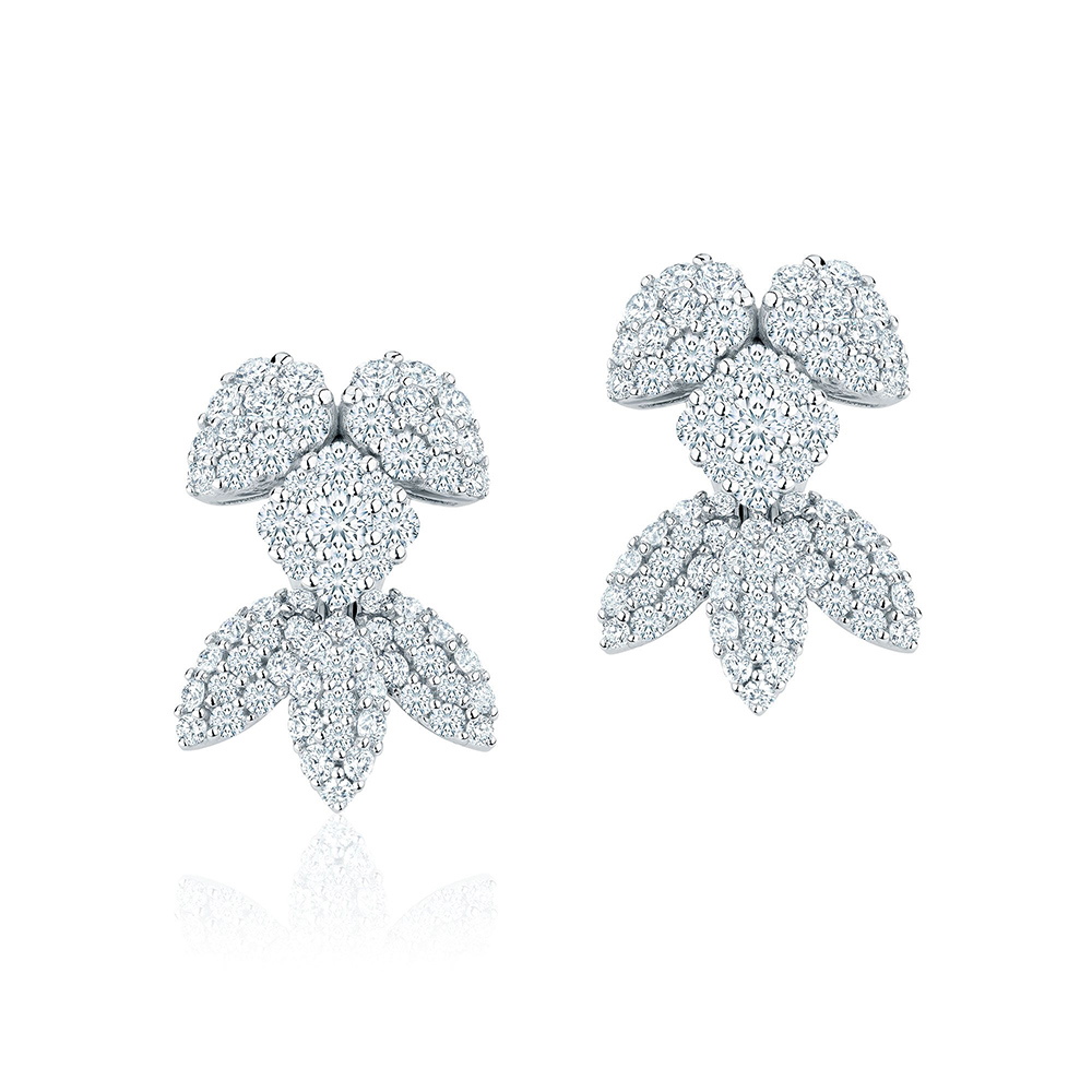 Birks Snowstorm Diamond Earrings as seen on Meghan Markle