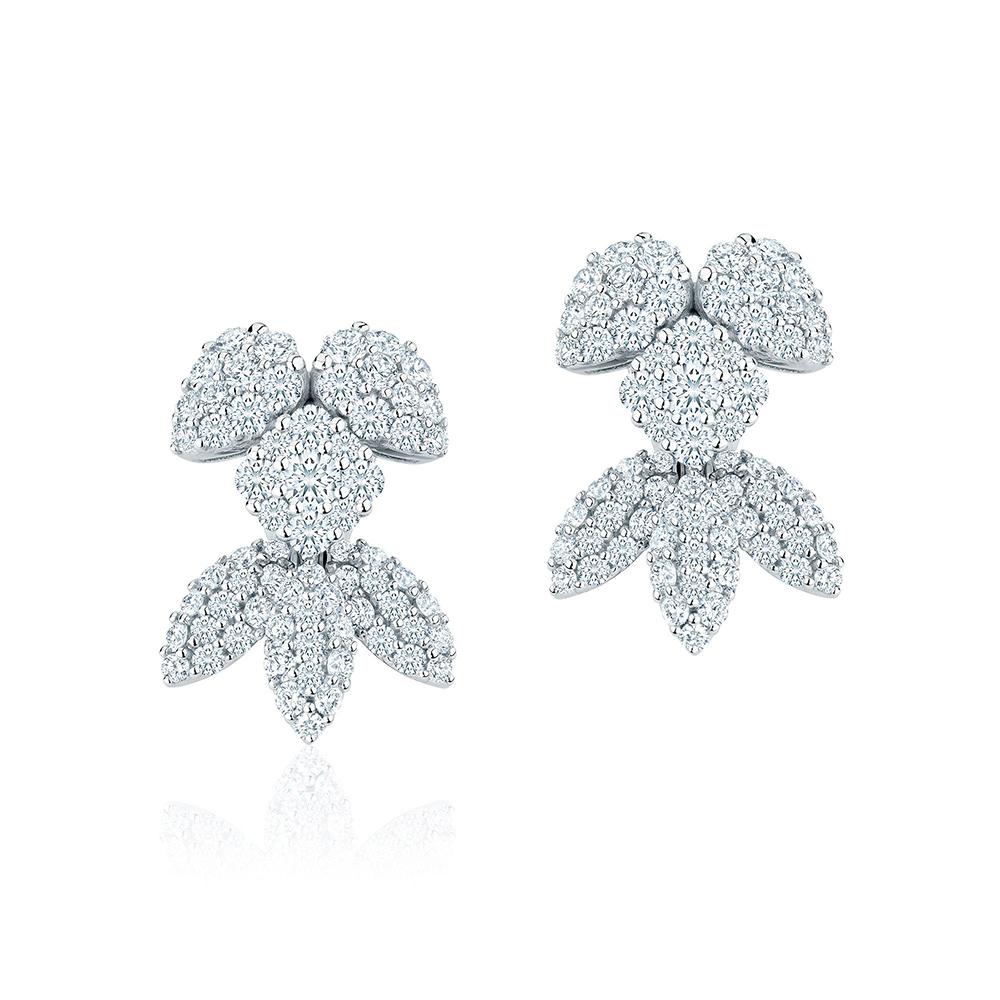 Birks Snowstorm Diamond Earrings as seen on Meghan Markle