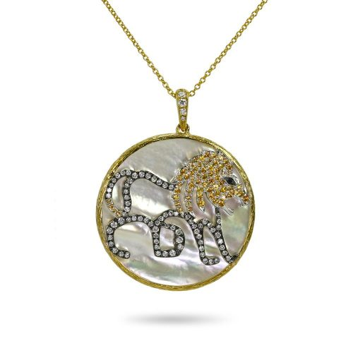 Khai Khai Zodiac Medallion Necklace - Leo - as seen on Meghan Markle
