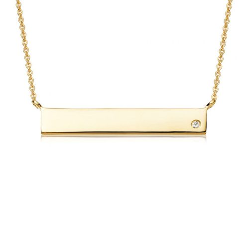 Missoma Gold Bar Necklace as seen on Meghan Markle
