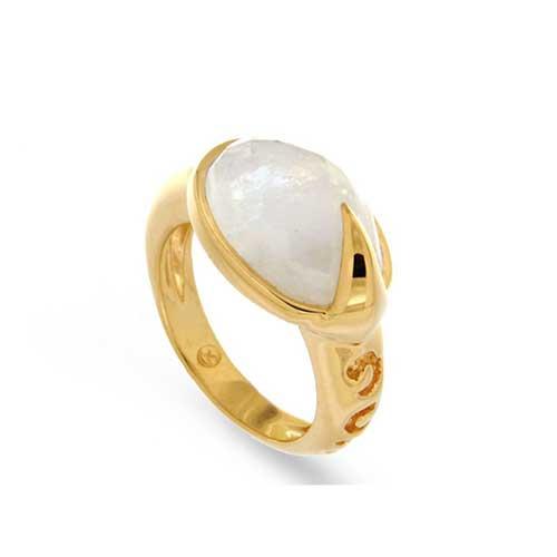 Missoma Maiya Moonstone Ring as seen on Meghan Markle