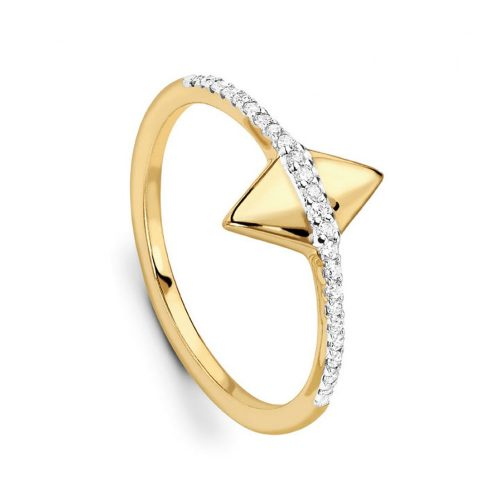 Missoma Pave Center Double Arrow Ring as seen on Meghan Markle