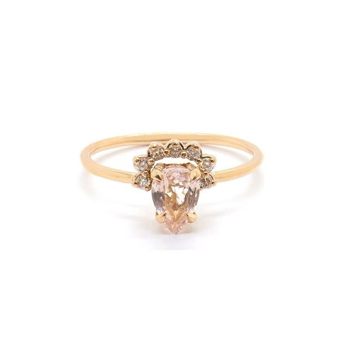 Natalie Marie Rose Morganite Ring as seen on Meghan Markle