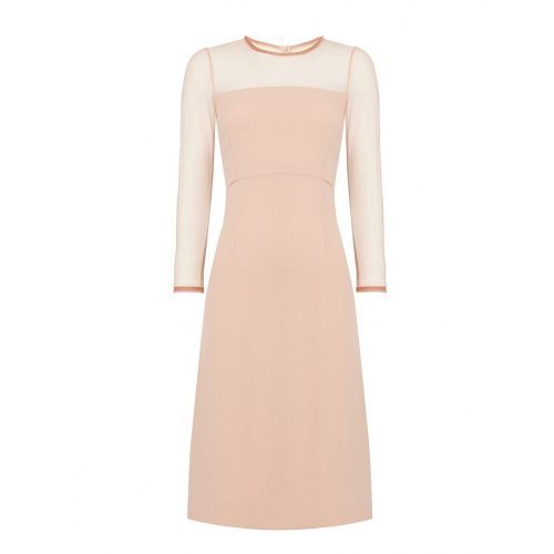 Goat Flavia Dress in Dusty Rose as seen on Meghan Markle, Duchess of Sussex