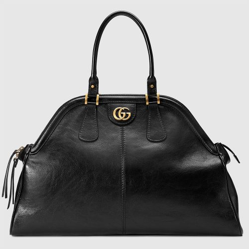 Gucci RE(BELLE) Large Top Handle Bag in Black as seen on Meghan Markle