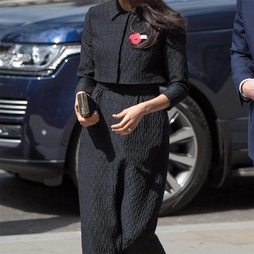 Emilia Wickstead Black Dress-Skirt Suit (Custom) as seen on Meghan Markle