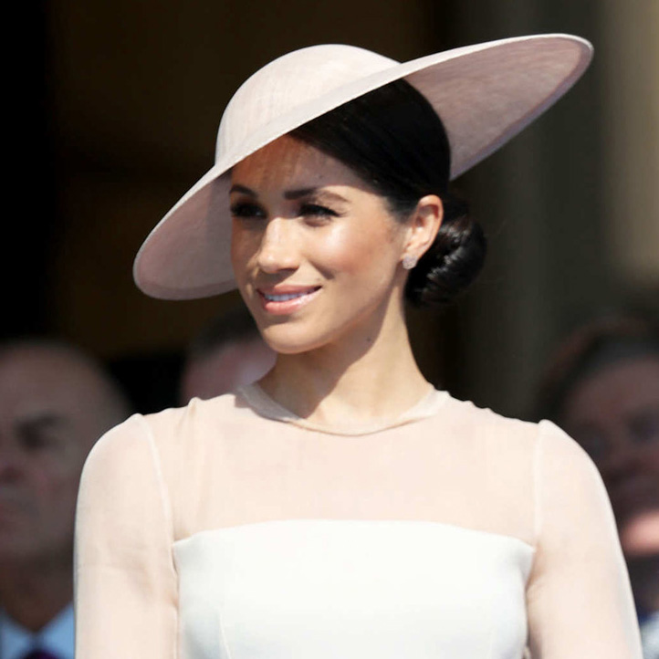 Hat detail - Meghan Markle makes royal debut as Duchess of Sussex at the Prince of Wales's 70th Birthday Garden Reception at Buckingham Palace on 22 May, 2018.