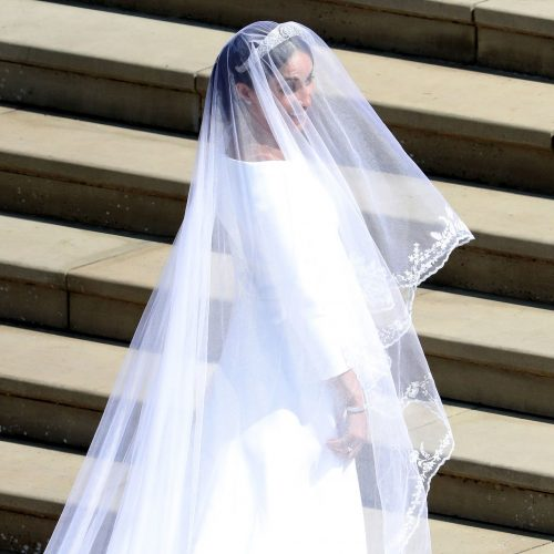 Clare Waight Keller for Givenchy bespoke wedding dress for the Royal wedding of Meghan Markle and Prince Harry.