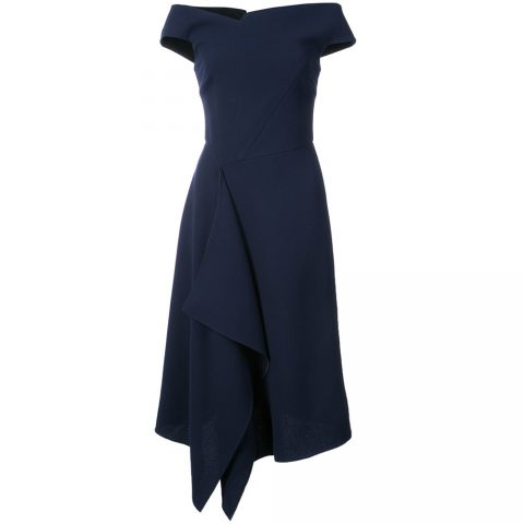 Roland Mouret Barwick dress as seen on Meghan Markle the day before Royal Wedding.
