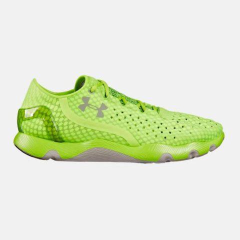 Under Armour SpeedForm® RC Super-lightweight running shoe in Hyper Green. as seen on Meghan Markle