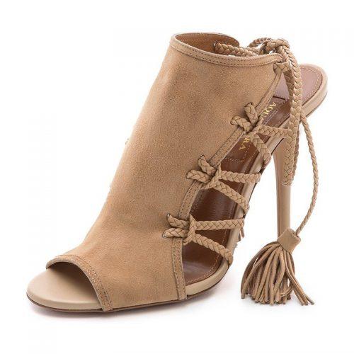 Aquazzura Sahara 105 Suede Sandals as seen on Meghan Markle