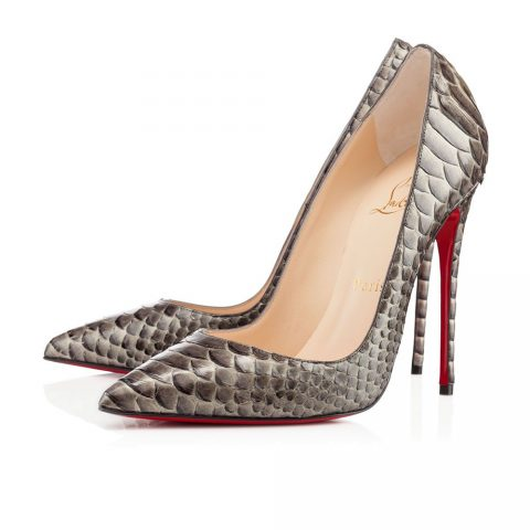 Christian Louboutin So Kate Python Pumps in Bronze as seen on Meghan Markle