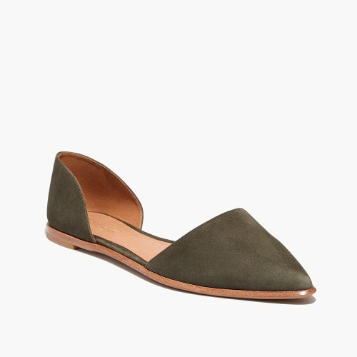 Madewell Arielle D'orsay Flats in Kale as seen on Meghan Markle