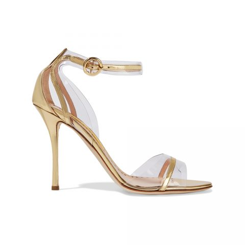 Rupert Sanderson Clair de Lune Sandals in Gold as seen on Meghan Markle