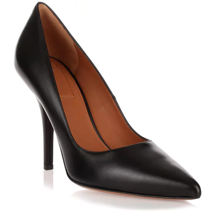 Givenchy Infinity black leather pumps as seen on Meghan Markle, Duchess of Sussex