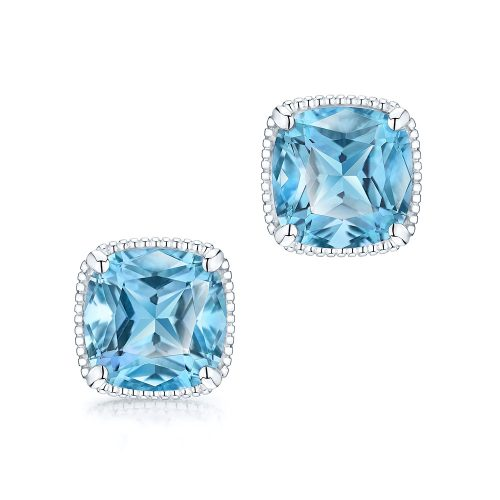 Birks Bee Chic Blue Topaz Stud Earrings as seen on Meghan, Duchess of Sussex