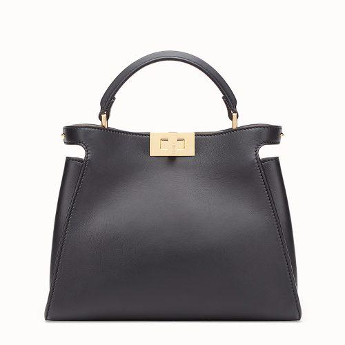 Fendi Peekaboo Essential Bag in Black as seen on Meghan, Duchess of Sussex.