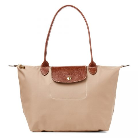 Longchamp 'Small Le Pliage' Tote in Beige as seen on Meghan Markle in 2005.