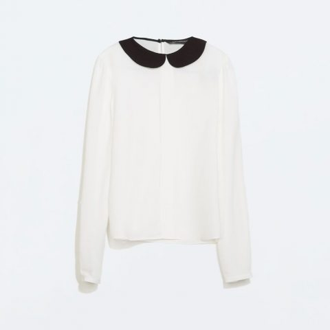 Zara Peter Pan Collar Blouse as seen on Meghan Markle