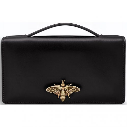 Christian Dior Embellished Pochette Clutch Bag with Bee as seen on Meghan, Duchess of Sussex.