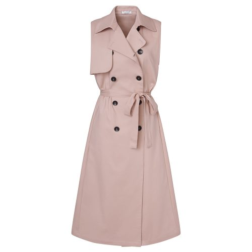 House of Nonie SS18 sleeveless trench in Blush as seen on Meghan Markle, Duchess of Sussex