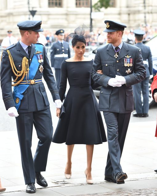 Meghan, Duchess of Sussex at The Centenary of the Royal Air Force service at Westminster Abbey.