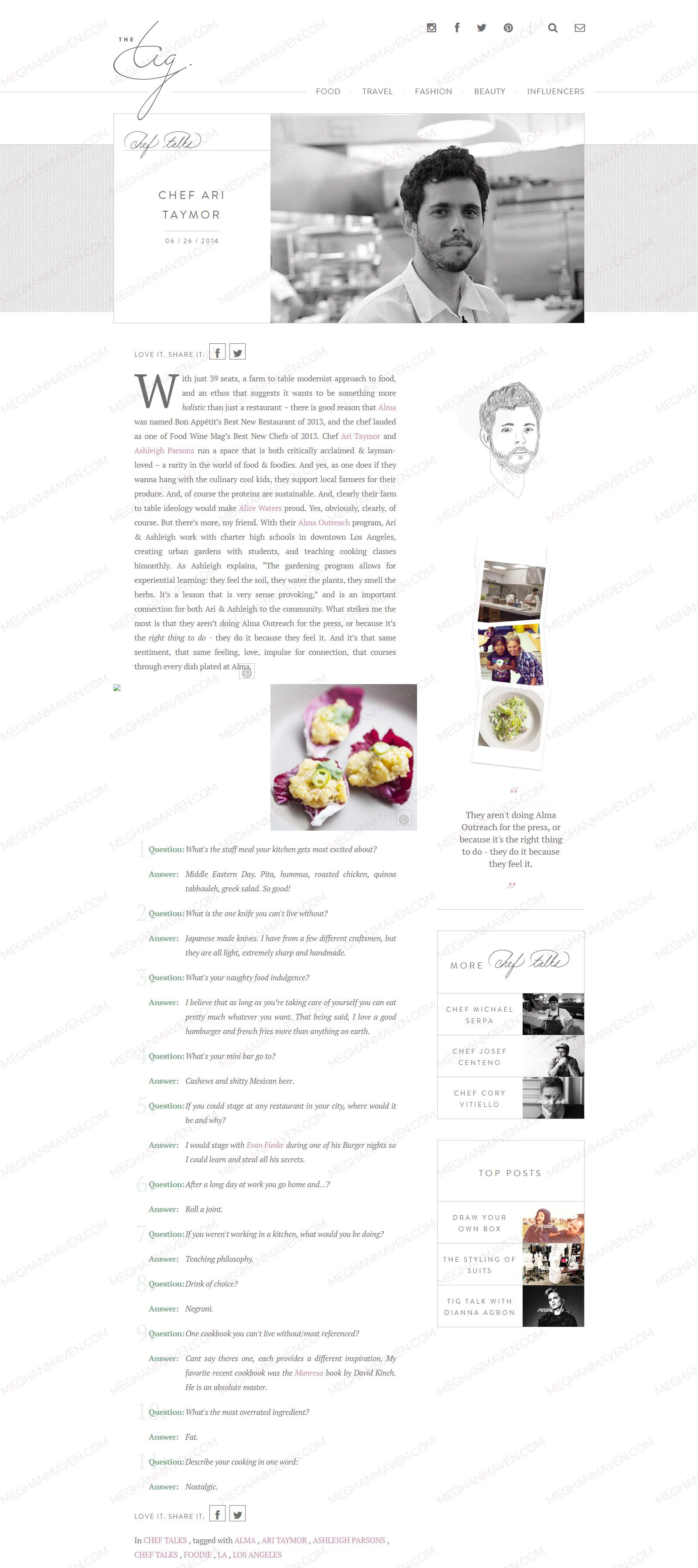 52ac8ff86e3 Chef Ari Taymor by Meghan Markle