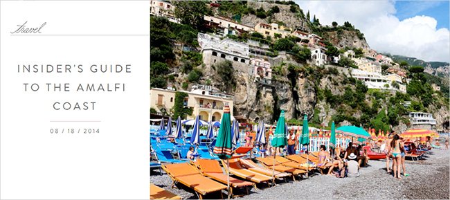 Insider's Guide to The Amalfi Coast | The TIG archive | Meghan Maven