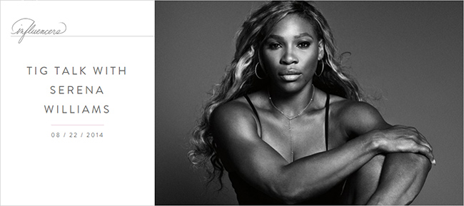 TIG Talk with Serena Williams by Meghan Markle | The TIG archive | Meghan Maven