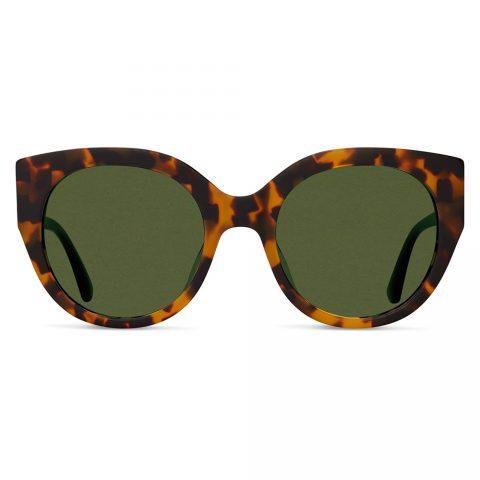 Toms 'Luisa' Matte Havana Tortoise Sunglasses in Glass Bottle Green. as seen on Meghan Markle