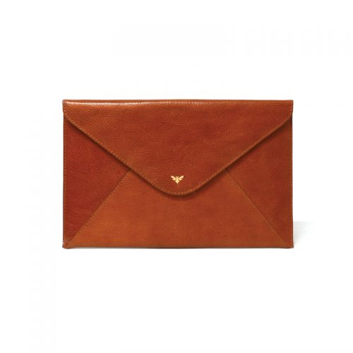 Ebby Rane The 1887 Clutch in Cognac as seen on Meghan Markle