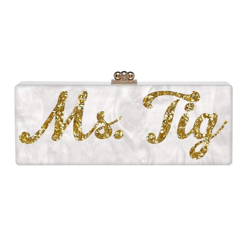 Edie Parker Ms. Tig Custom 'Flavia' Clutch as seen on Meghan Markle's Instagram and blog The TIG