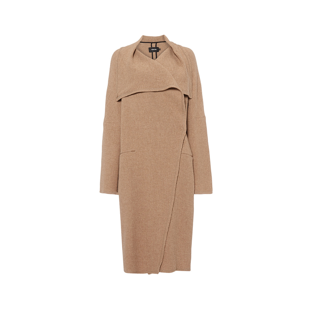beede1a76a8 Turnover Sesame Long Coat as seen on Meghan Markle