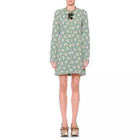 Marni flower print shift dress as seen on Meghan Markle