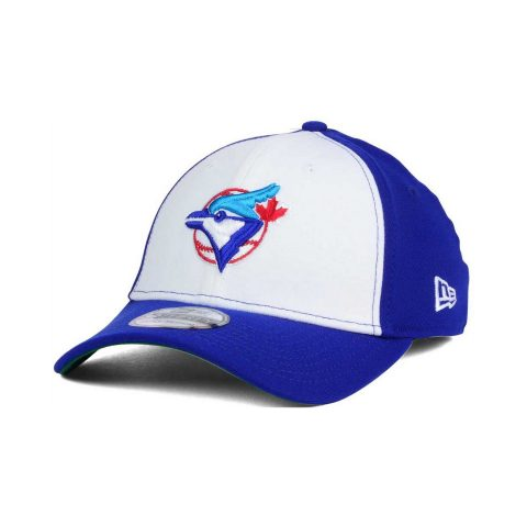 New Era Toronto Blue Jays Coop 39THIRTY Cap in White/Blue as seen on Meghan Markle