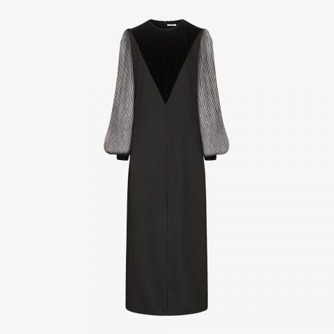 Givenchy Velvet V Dress as seen on Meghan, Duchess of Sussex