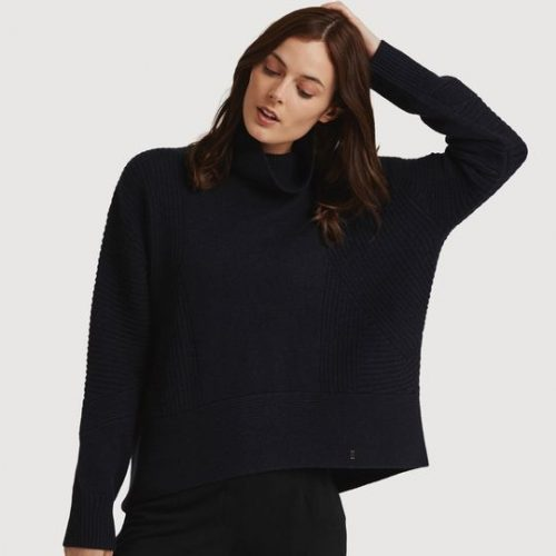 Kit and Ace 'The Ash' Turtleneck Sweater in Navy as seen on Meghan Markle