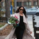 Meghan Markle flower shopping in Toronto in December 2016.