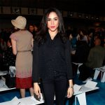 Meghan Markle at the Tory Burch fashion show during Mercedes-Benz Fashion Week Spring on September 10, 2013 in New York City.