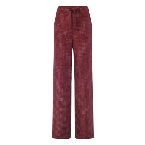 Rag & Bone 'Rudy' red silk polka dot pants as seen on Meghan Markle