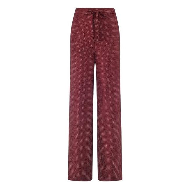 Rag & Bone 'Rudy' red silk polka dot pants as seen on Meghan Markle