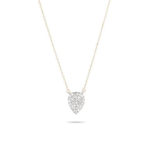 Adina Reyter Solid Pavé Teardrop Necklace as seen on Meghan, Duchess of Sussex