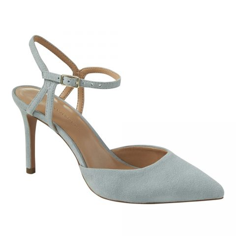 Banana Republic Madison 12-Hour Side Cut-Out Pumps in Caribbean Blue Suede as seen on Meghan Markle / Duchess of Sussex
