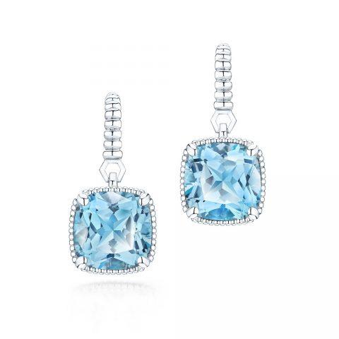 Birks Blue Topaz Drop Earrings as seen on the Duchess of Sussex, Meghan Markle