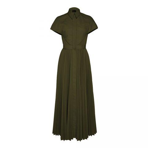 Brandon Maxwell Poplin Pleated Dress as seen on Meghan Markle / Duchess of Sussex