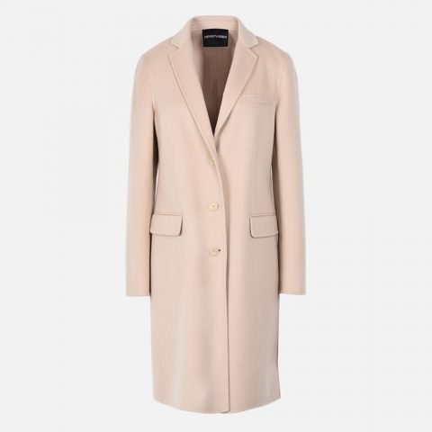Emporio Armani cashmere double cloth coat as seen on Meghan, Duchess of Sussex
